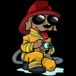 firefighter dog